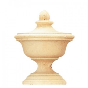 "Edinburgh Finial for 2 1/4"" Wooden Curtain Rods~Each"