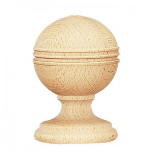 "Pamplona Finial for 2 1/4"" Wood Curtain Rods~Each"