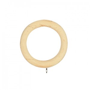 "Smooth Wood Ring for 2 1/4"" Curtain Rods~Each"