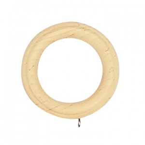 "Reeded Wood Curtain Ring for 2 1/4"" Curtain Rods~Each"