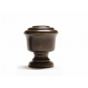 "Knob Curtain Rod Finial for 1 3/8"" Wood Drapery Rod~Each"