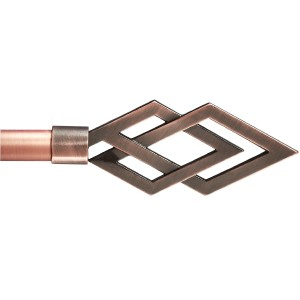 Cesena Copper Curtain Rod Set