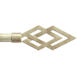 Cesena Ivory Gold Curtain Rod Set