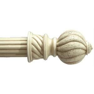Torino Antique White Curtain Rod Set