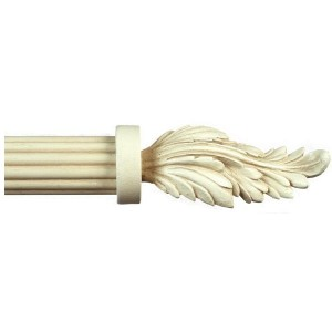 Candelo Antique White Curtain Rod Set