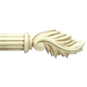"Assisi Antique White Curtain Rod Set~2"" Rod Diameter"