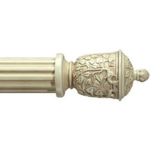 "Amalfi Antique White Curtain Rod Set~2"" Rod Diameter"