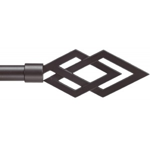 Cesena Black Curtain Rod Set