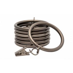 Kirsch Designer Metals Clip Ring ~ 7 Pack
