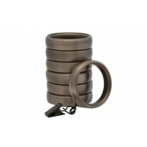 Kirsch Designer Metals Decorative Clip Ring ~ 7 Pack