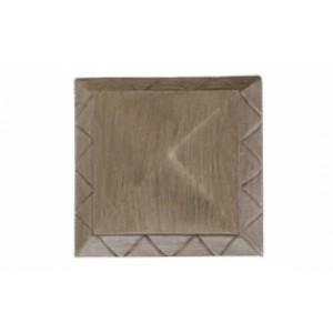 """Cross Geometric End Cap for 1 3/8"""" Drapery Curtain Rod ~ Pair"""