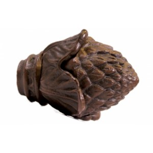 """Pine Cone Finial with Plug for 1"""" Curtain Rod~Pair"""