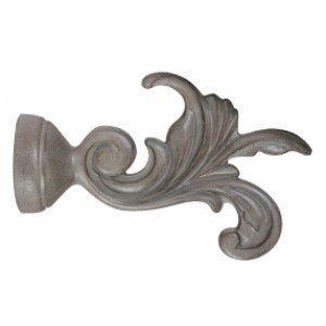 "Leaf Dance Finials for 2"" Drapery Curtain Rods ~ Pair"