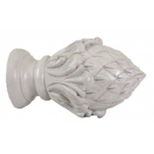 "Pineacanthus Finials for 2"" Drapery Curtain Rods~Pair"