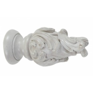 "Wave Finials for 2"" Drapery Curtain Rods ~ Pair"