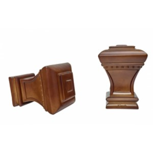 """Bristol Curtain Rod Finial for 1 3/8"""" Drapery Rods~Pair"""