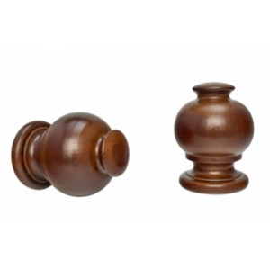 """Button Ball Curtain Rod Finial for 2"""" Drapery Rods~Each"""