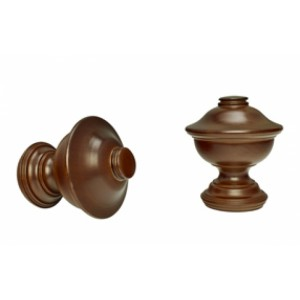 """Chaucer Curtain Rod Finials for 1 3/8"""" Drapery Curtain Rods~Pair"""