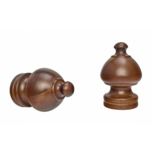 """Sherwood Curtain Rod Finial for 2"""" Drapery Rods~Each"""