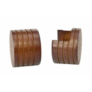"""Wood Inside Mount Brackets for 1 3/8"""" Drapery Curtain Rods-Pair"""