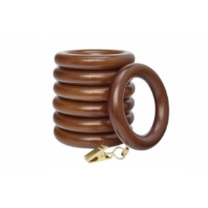 """Curtain Rings with Clip for 1 3/8"""" Drapery Rods~7 Pack"""