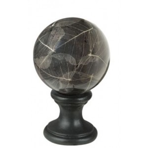 "4"" Black Leaf Ball Finial"