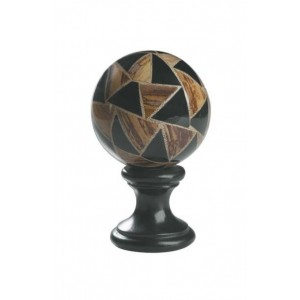 "4"" Patchwork on Black Finial"