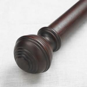 "Turned Knob Double Rod Set ~ 2"" Diameter"