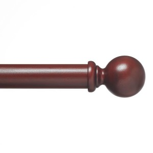 "Wood Ball Single Rod Set ~ 2"" Diameter"