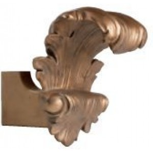"Leaf Corinthian Scarf holder Bracket for 2"" Drapery Curtain Rods~ Each"