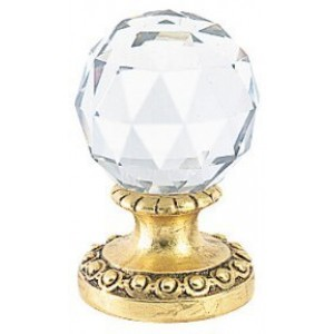 Finesse Medium Faceted Crystal Finial ~ Each