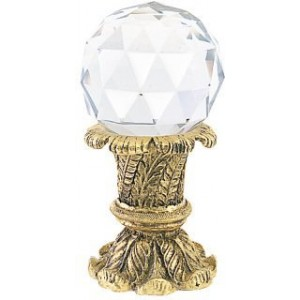 Finnese Large Faceted Crystal Finial