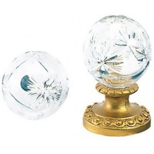 Finesse Medium Hollow Small Star Crystal Finial ~ Each