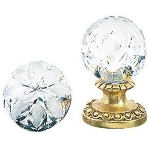 Finesse Medium Hollow Large Star Crystal Finial ~ Each