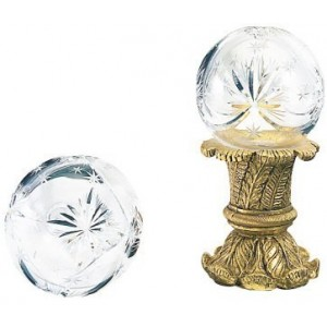 Finesse Large Hollow Small Star Crystal Finial ~ Each