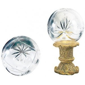 Finesse Extra Large Hollow Small Star Crystal Finial