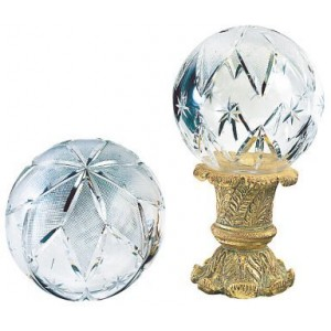 Finesse Extra Large Hollow Large Star Crystal Finial ~ Each
