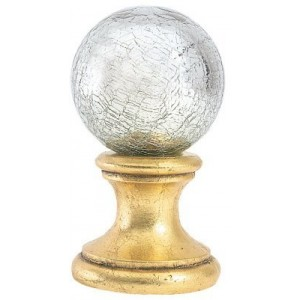 Silver Crackle Ball Finial