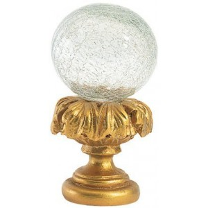 Clear Crackle Ball Finial