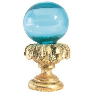 Aqua Blue Ball Finial