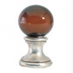 Dark Amber Ball Finial