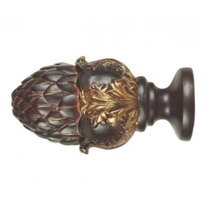 "Victoria Finial for 3"" Wood Drapery Rod~Each"