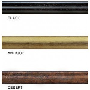 "Country Iron 4' Curtain Rod~3/4"" Diameter ~ Each"
