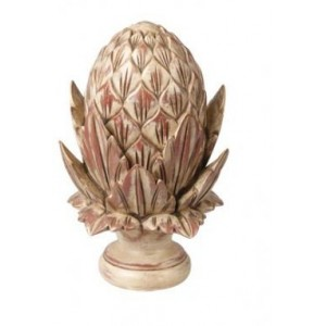 Hand Carved Artichoke Finial