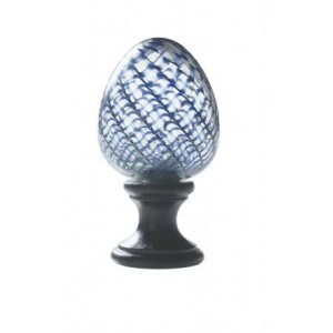 Blue Spiral Finial