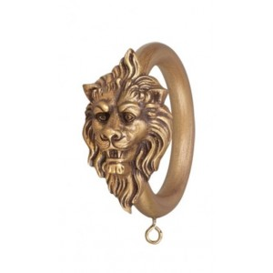 "Lion Head Decorative Ring for 2"" Curtain Rod~Each"