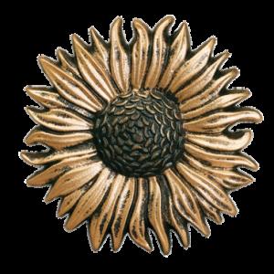 """Sunflower Metal Rosette~5 1/2"""" Diameter~Each"""