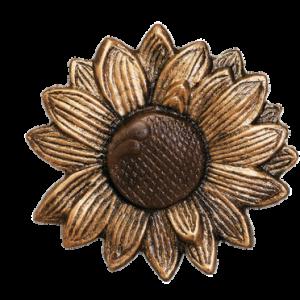 """Sunflower Metal Rosette~4 3/8"""" Diameter~Each"""
