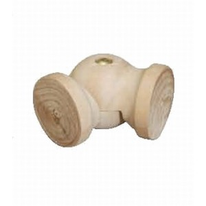 "Wood Elbow for 1 3/4"" Rod"