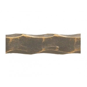"3/4"" Steel Hammered Solid Square Rod (by the foot)"